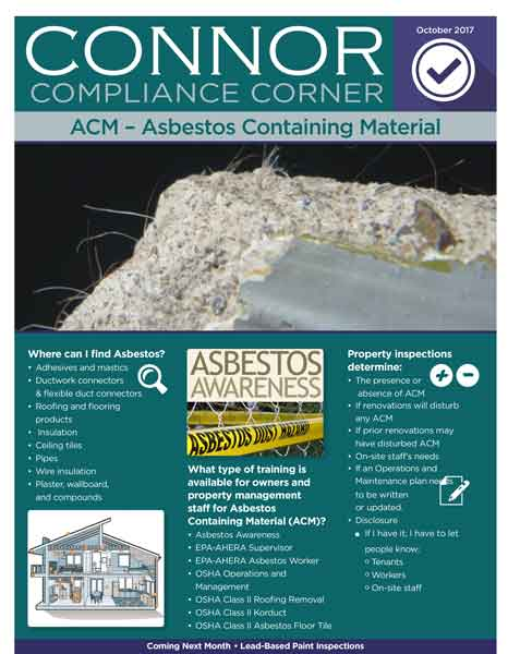 CONNOR - Compliance Corner - Asbestos Containing Material